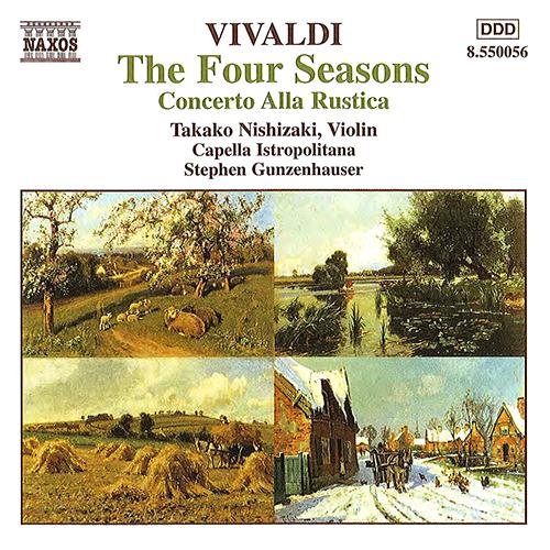 Vivaldi's The Four Seasons and Concereto Alla Rustica Naxos recording album cover art