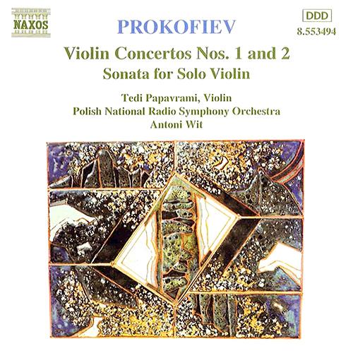 Prokofiev, Violin Concertos Nos. 1 and 2 and Sonata for Solo Violin Album Art
