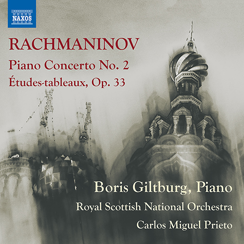 Rachmaninov Piano Concerto no. 2 and Etudes-tableaux, op. 33 Album Art
